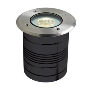 Marine Grade Inground Light - 24V 9W 950lm IP65 5000K 125mm Round Chrome