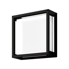 Wall Light - Vandal Resistant 12W 850lm IP65 IK08 5000K 250mm Black