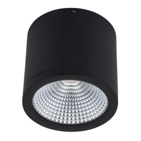 Surface Mounted Downlight - Dimmable 25W 2250lm IP54 IK08 4000K 120mm Matte Black Commercial Grade