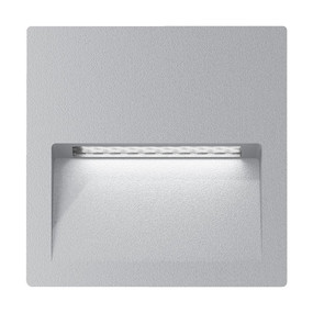 Wall Light - Vandal Resistant 4W 200lm IP65 IK08 3000K 115mm Square Silver