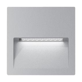Wall Light - Vandal Resistant 4W 200lm IP65 IK08 3000K 115mm Square Silver