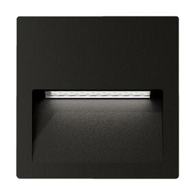 Wall Light - Vandal Resistant 4W 250lm IP65 IK08 5000K 115mm Square Black