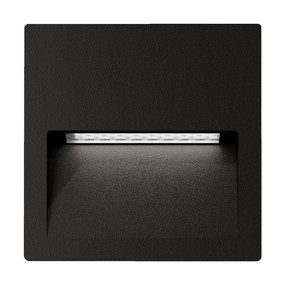 Wall Light - Vandal Resistant 4W 200lm IP65 IK08 3000K 115mm Square Black