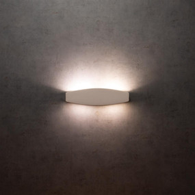 Up Down Light - 120W G9 360mm White Ceramic Made In Italy