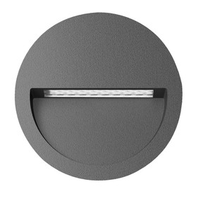Wall Light - Vandal Resistant 4W 200lm IP65 IK08 3000K 115mm Dark Grey