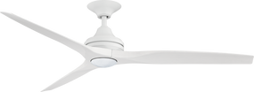 Ceiling Fan With Light - 152cm 60in 80W Matte White 3 Speed