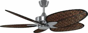 Ceiling Fan - 132cm 52in 79W Brushed Nickel and Bamboo Antique 3 Speed