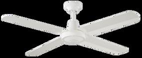 Ceiling Fan - 122cm 48in 50W White 3 Speed