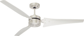 Ceiling Fan - 152cm 60in 77W Brushed Steel 3 Speed