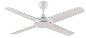 Ceiling Fan - 132cm 52in 58W White 3 Speed