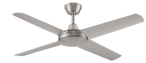 Fan - 132cm 52in 58W Brushed Nickel 3 Speed
