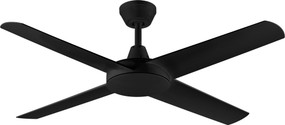 Ceiling Fan - 132cm 52in 58W Black 3 Speed