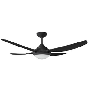 Fan With Light - 132cm 52in 4000K 75W Black 3 Speed