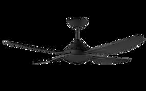 Decidi 122cm 48 Inch 3 Speed Ceiling Fan - Black 75W