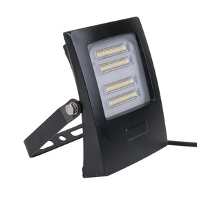 Marine Grade Vandal Resistant Flood Light - 30W 2700lm IP66 IK08 3000K 160mm Black