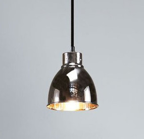 Pendant Light - E27 120mm Metallic Nickel