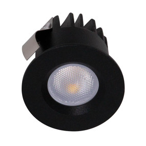 Miniature LED Downlight - Non-Dimmable 3W 125lm IP20 3000K 40mm Black