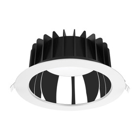 LED Downlight - Dimmable 35W 3850lm IP44 Tri-Colour 228mm White