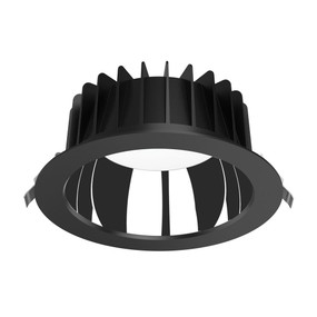 LED Downlight - Dimmable 35W 3850lm IP44 Tri-Colour 228mm Black