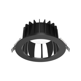 LED Downlight - Dimmable 25W 2600lm IP44 Tri-Colour 172mm Black