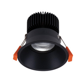 LED Downlight - Dimmable 13W 987lm IP40 3000K 100mm Black