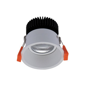 LED Downlight - Dimmable 10W 900lm IP40 5000K 85mm White