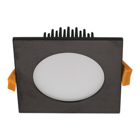 LED Downlight - Dimmable 13W 900lm IP54 Tri-Colour 100mm Square Black