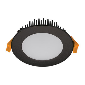 LED Downlight - Dimmable 10W 800lm IP44 Tri-Colour 101mm Black