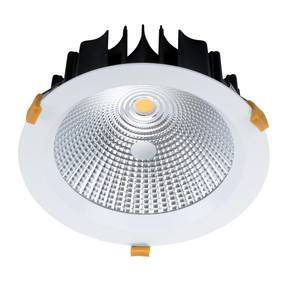 LED Downlight - Dimmable 35W 3150lm IP44 4000K 225mm Satin White Commercial Grade