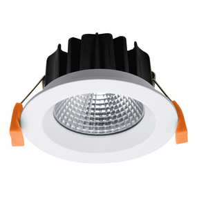 LED Downlight - Dimmable 13W 880lm IP44 4000K 110mm Satin White