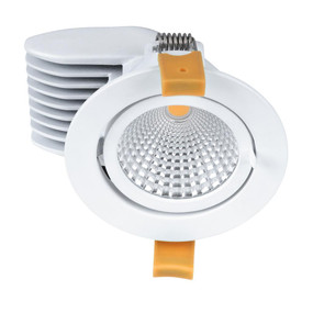 Gimble Downlight - Dimmable 13W 950lm IP20 5000K 96mm Satin White