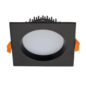 LED Downlight - Dimmable 13W 900lm IP44 Tri-Colour 110mm Square Black