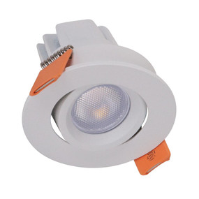 Miniature Gimble Downlight - Non-Dimmable 3W 125lm IP20 3000K 50mm White