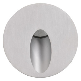 Marine Grade Wall Light - 700mA 3W 180lm IP65 6400K 65mm Silver Round