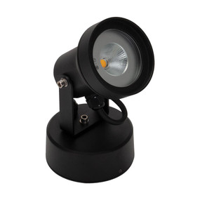 LED Spotlight - 9W 800lm IP54 3000K 200mm Black