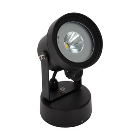 LED Spotlight - 12W 1000lm IP54 3000K 218mm Black