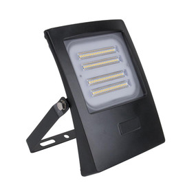 Marine Grade Vandal Resistant Flood Light - 50W 4500lm IP66 IK08 3000K 201mm Black