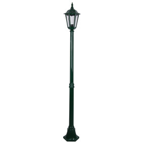 Single Head Post Light - 240V B22 IP43 1930mm Green Made In Italy