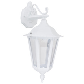 Outdoor Wall Light - 240V B22 IP43 510mm White Down Facing Made in Italy