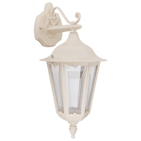 Outdoor Wall Light - 240V B22 IP43 510mm Beige Down Facing Made in Italy