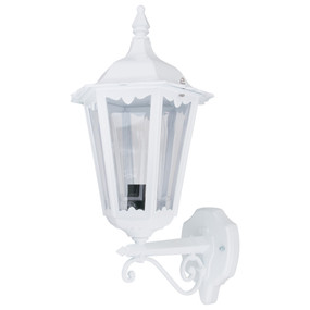 Outdoor Period Wall Light - 240V B22 IP43 510mm White Up Facing Made in Italy