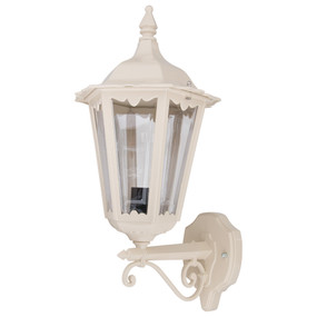 Outdoor Period Wall Light - 240V B22 IP43 510mm Beige Up Facing Made in Italy