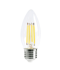 E27 LED Filament Globe - 4W 400lm IP20 6000K 93mm Clear Dimmable