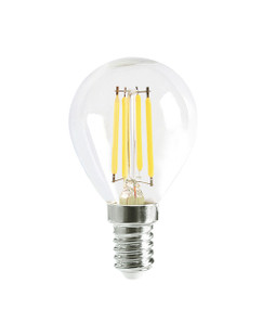 E14 LED Filament Globe - 4W 400lm IP20 6000K 78mm Clear Dimmable