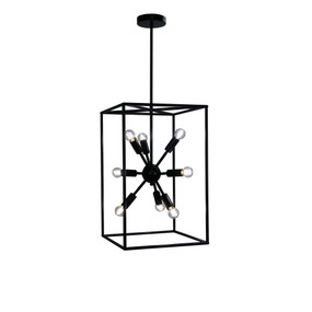 Pendant Light - 224W E14 550mm Black