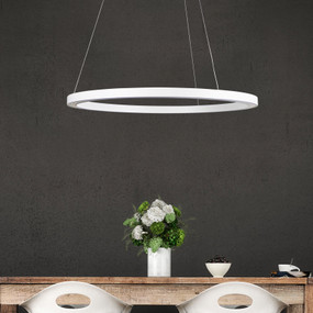 Pendant Light - 24W 1200lm 4000K 600mm White
