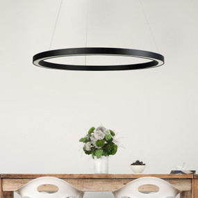 Pendant Light - 24W 1200lm 4000K 600mm Black