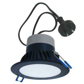 LED Downlight - Dimmable 10W 850lm IP44 3000K 120mm Black