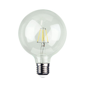 E27 LED Filament Globe - 6W 120lm E27 2700K 140mm Clear Dimmable