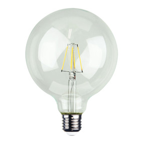 E27 LED Filament Globe - 4W 400lm E27 2700K 170mm Clear Dimmable